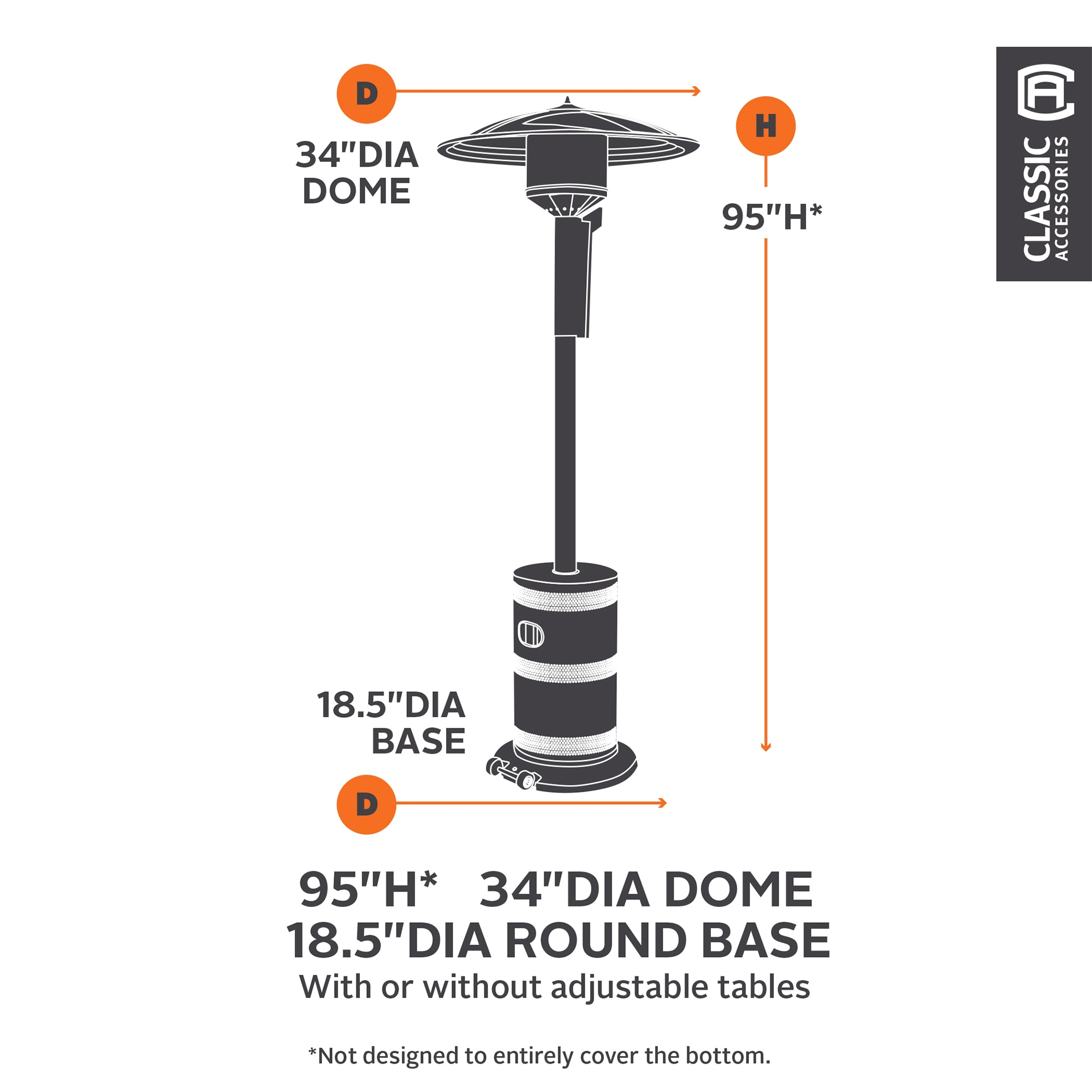 Classic Accessories Covers Hickory Patio Heater Covers Standup