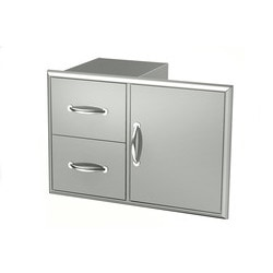Beautiful BroilChef Stainless Steel Drawers
