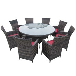 Kontiki Dining Sets   Wicker Large (Ideal For 8 Or More Seats)