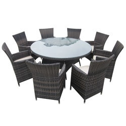Amazing Dining Sets   Wicker Large (Ideal For 8 Or More Seats)   Riviera   9 Piece .