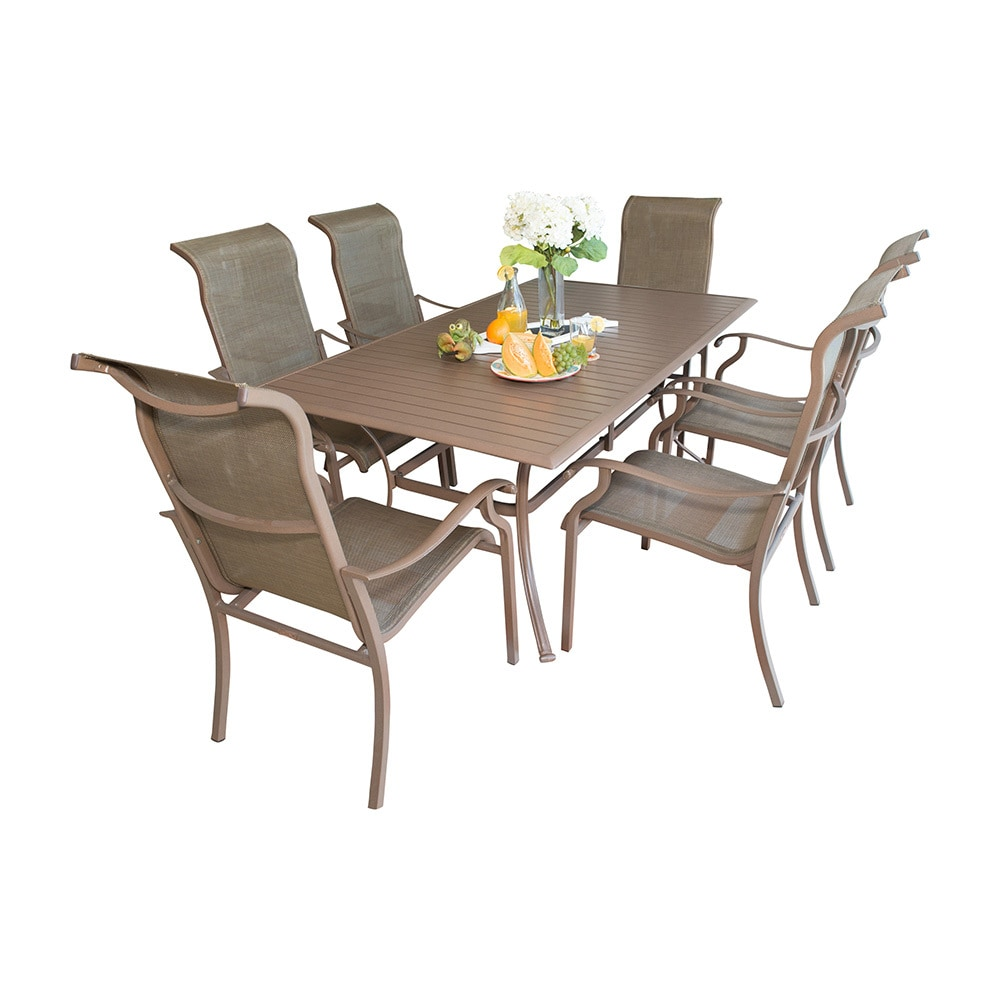 Panama Jack Island Breeze Collection Slatted Group Dining Set 7 Piece