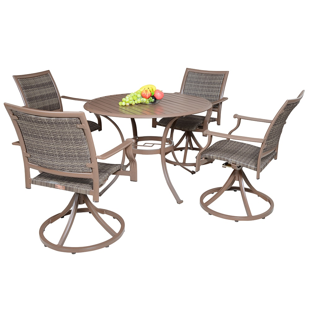 Panama Jack Island Cove Collection Swivel Dining Set 5 Piece
