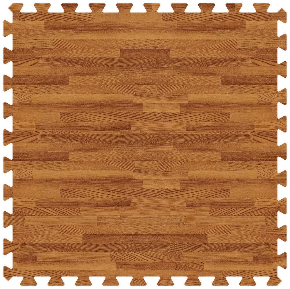 Brava Foam Rubber Tiles Woodgrain Collection Rum Oak