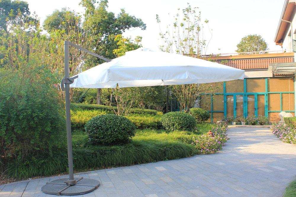 Kontiki Shade U0026 Cooling Offset Patio Umbrellas 10 Ft Square Offset Roma  Umbrella   Cream
