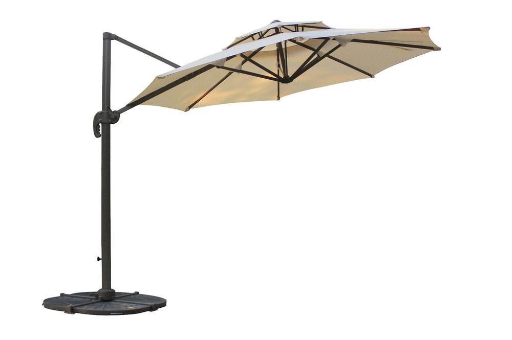 Kontiki Shade Amp Cooling Offset Patio Umbrellas 10 Ft Round