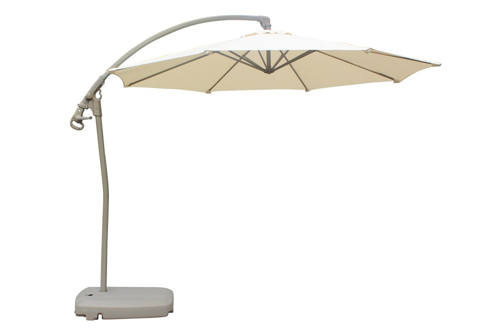 6 Ft Offset Patio Umbrella Sunnydaze Steel 10 Foot Offset