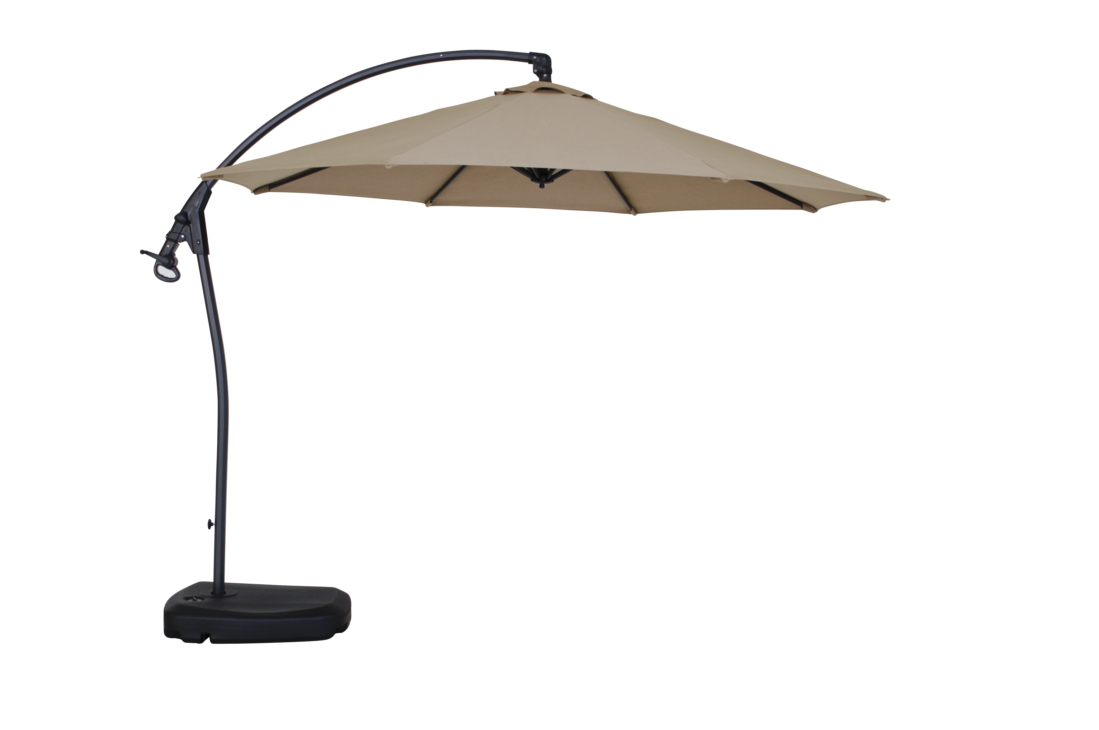 kontiki shade u0026 cooling offset patio umbrellas 10 ft signature round umbrella sunbrella fabric and base included