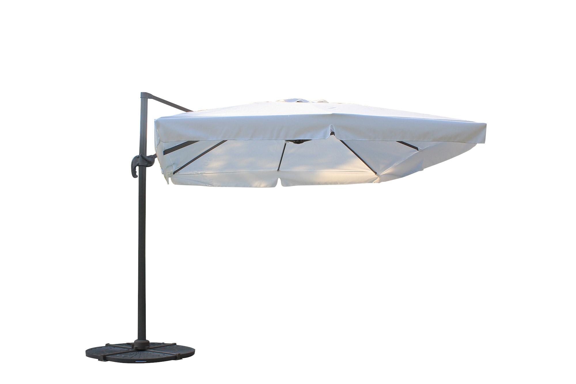 Kontiki Shade & Cooling fset Patio Umbrellas 10 ft Square fset