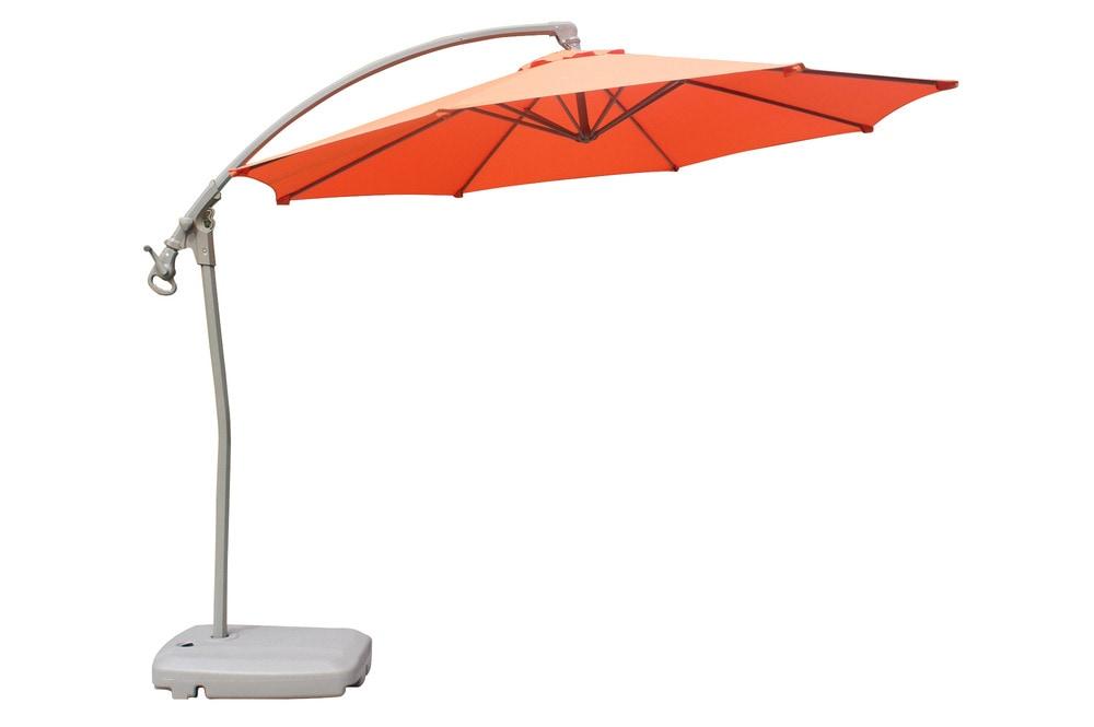 Kontiki Shade Cooling Offset Patio Umbrellas 10 Ft Round Offset