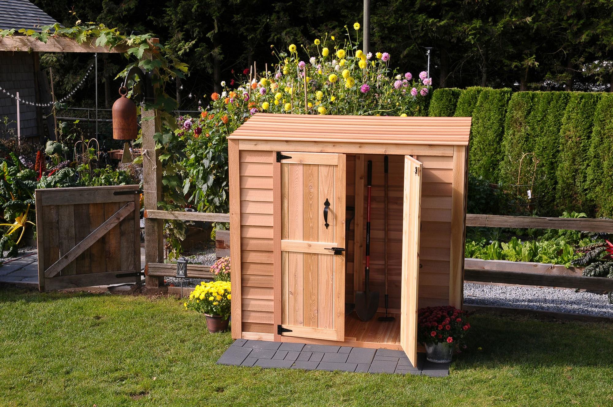 Hewetson Storage Sheds   Compact Series 6.5u0027 X 3u0027 Patio Wooden Cedar Shed