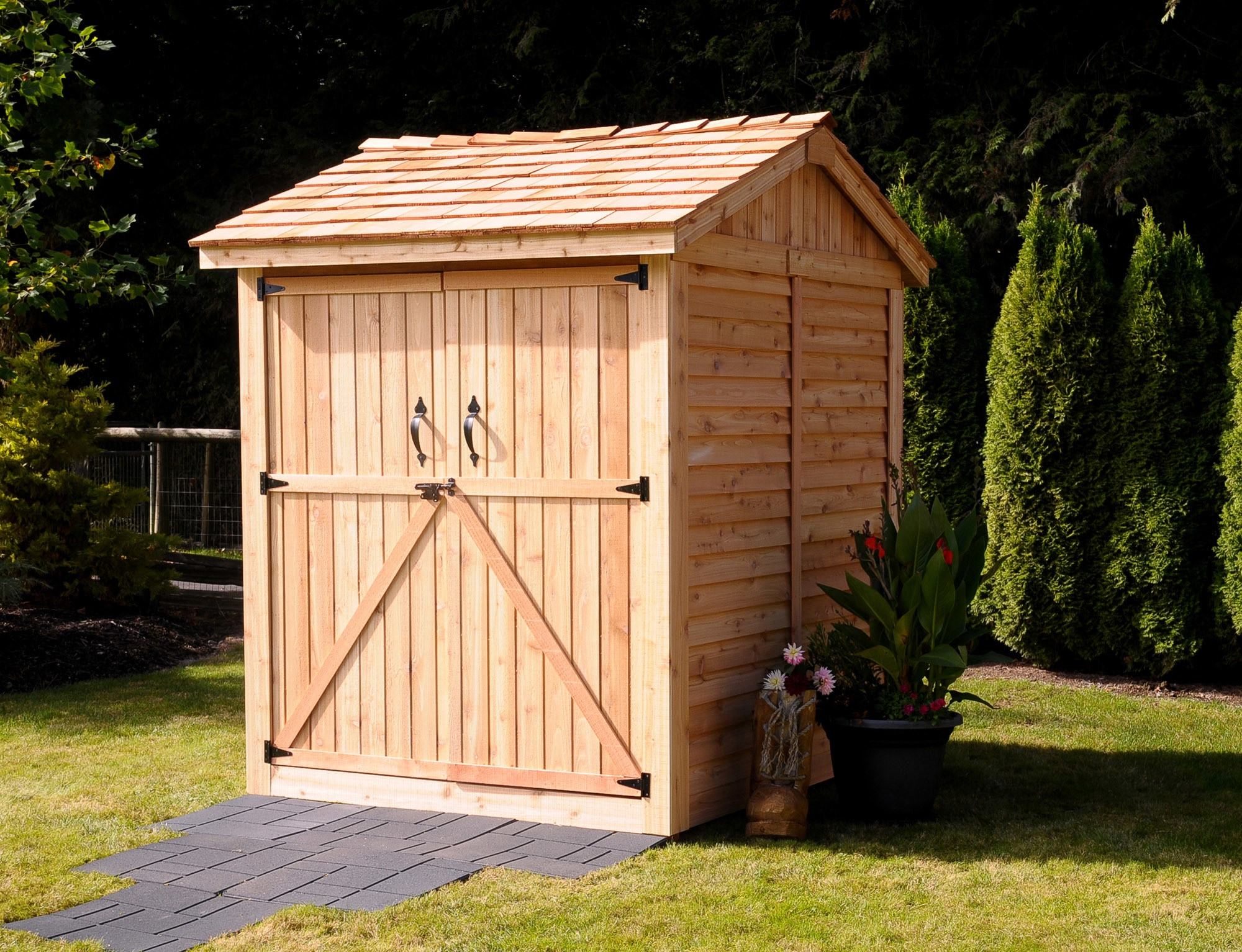 hewetson storage sheds lifestyle series 6 x 6 apex storage wooden cedar shed