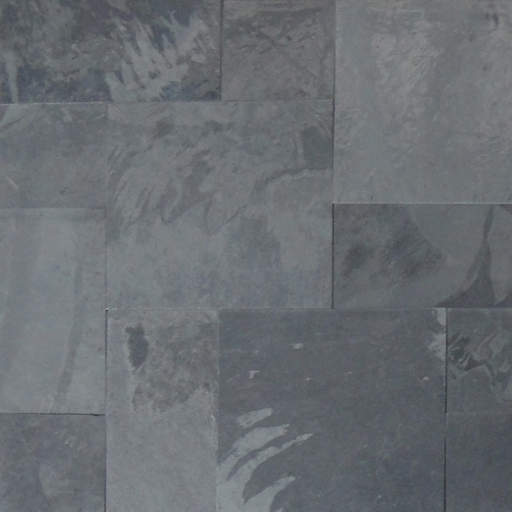 Slate Stone Tiles : Cabot slate tile french pattern montauk black