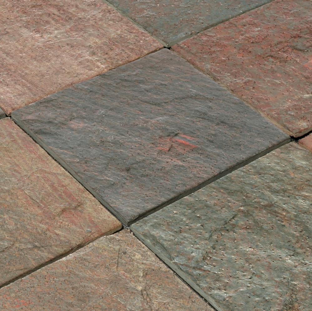 "Cabot Slate Tile Copper Quartzite / Natural Cleft / 12""x12"""