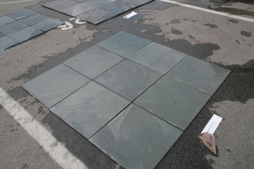 "Montauk Blue / Natural Cleft / 16""x16"" Slate Tile 0"