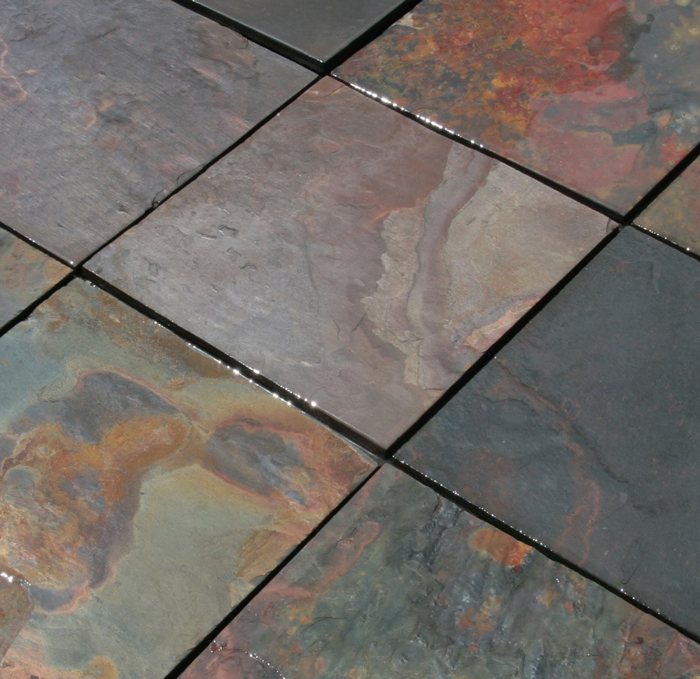 Cabot Slate Tile Multi Classic Natural Cleft X - 18 x 24 slate tile