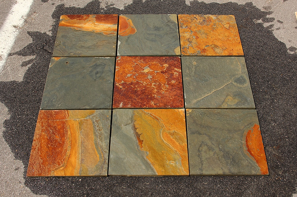 Cabot Slate Tile California Gold Natural Cleft 12x24