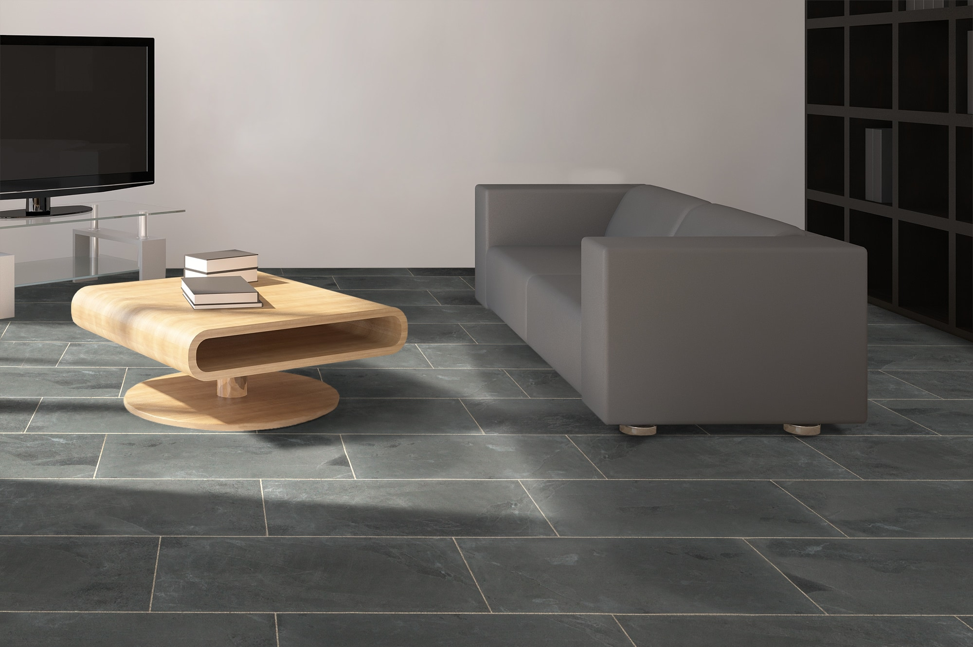 Janeiro slate tile montauk black 12x24 natural dailygadgetfo Gallery