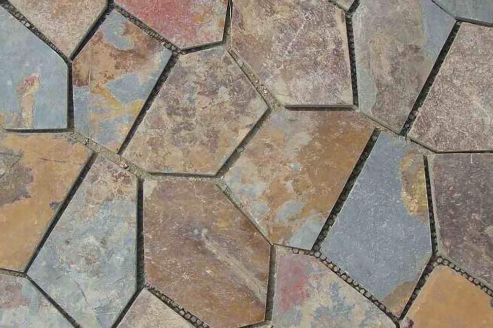 Janeiro slate tile versailles pattern montauk blue for Slate floor patterns