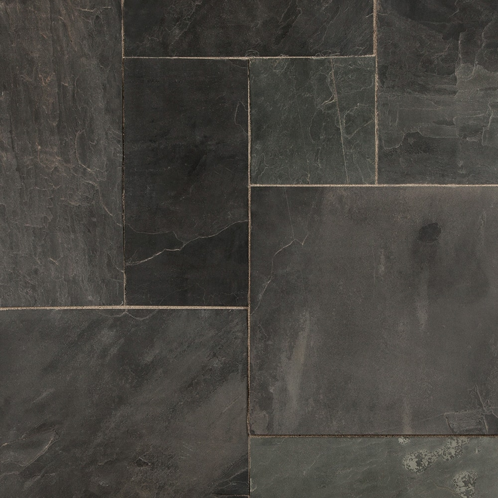 Roterra slate tiles gsa collection indian black versailles pattern 15002072 indian black versailles multi comp dailygadgetfo Gallery