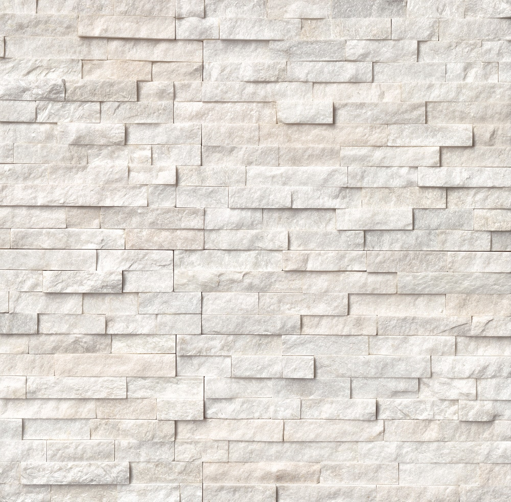 Ms International Stone Siding Slate Arctic White Collection Arctic White Ledgestone 6 X24