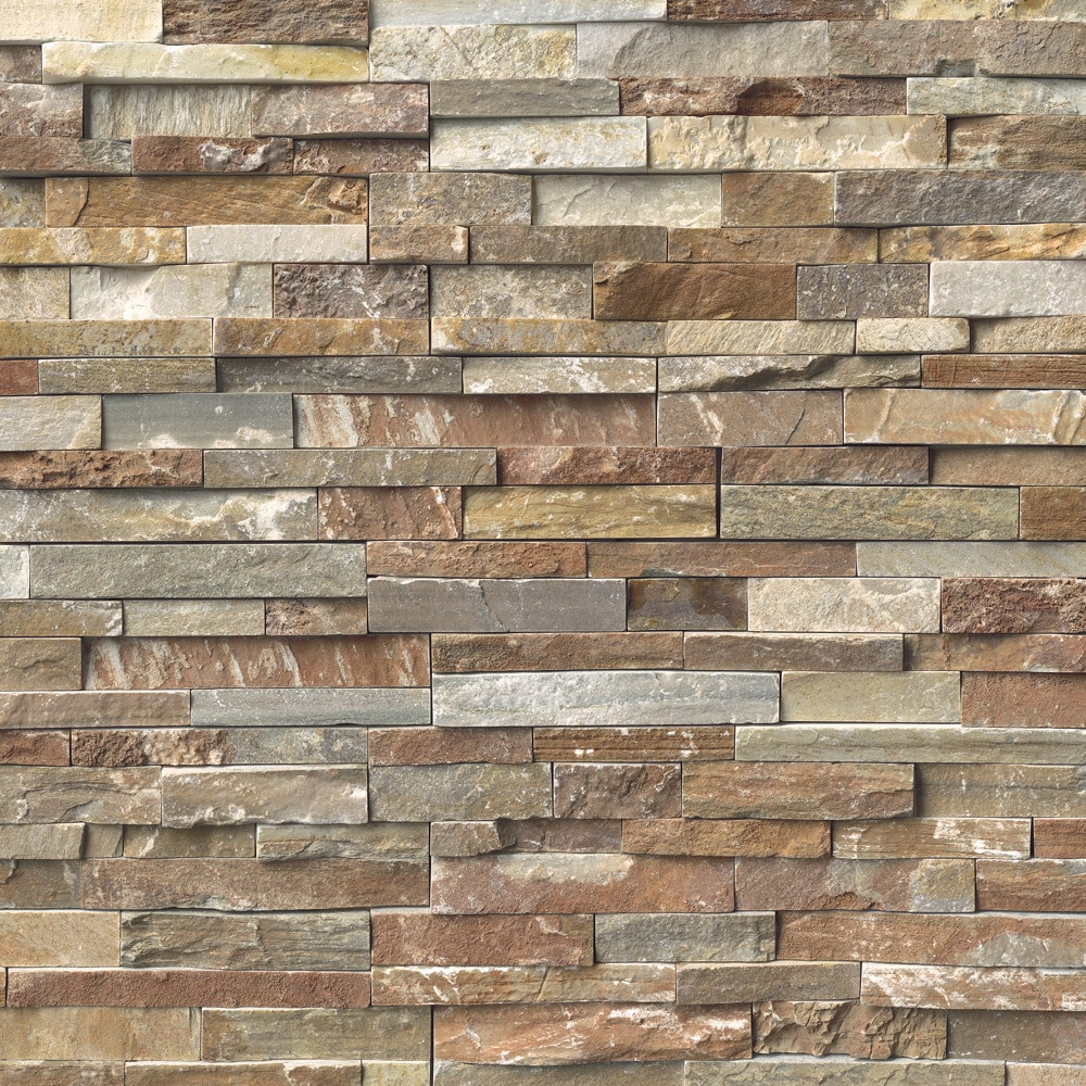 Stone Veneer White : Ms international stone siding quartzite slate golden