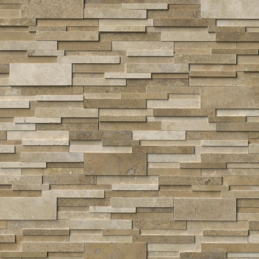 Ms International Stone Siding Travertine Casa Blend 3d