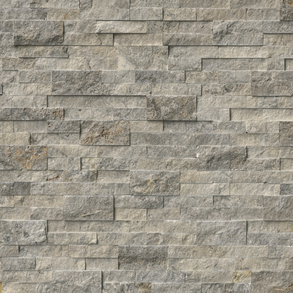 MS International Stone Siding - Travertine Silver ...