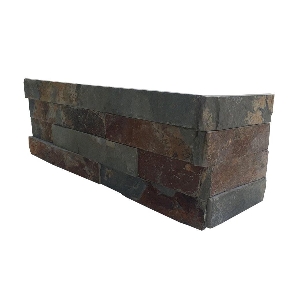 "Rustic Slate / Non Assembled Corner /  5 29/32""x17 3/4"" Stone Siding - Natural Ledge Stone Accessories 0"
