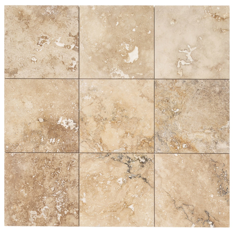 FREE Samples Izmir Travertine Tile Honed And Filled Chiaro Rustic Beige 18x18x12