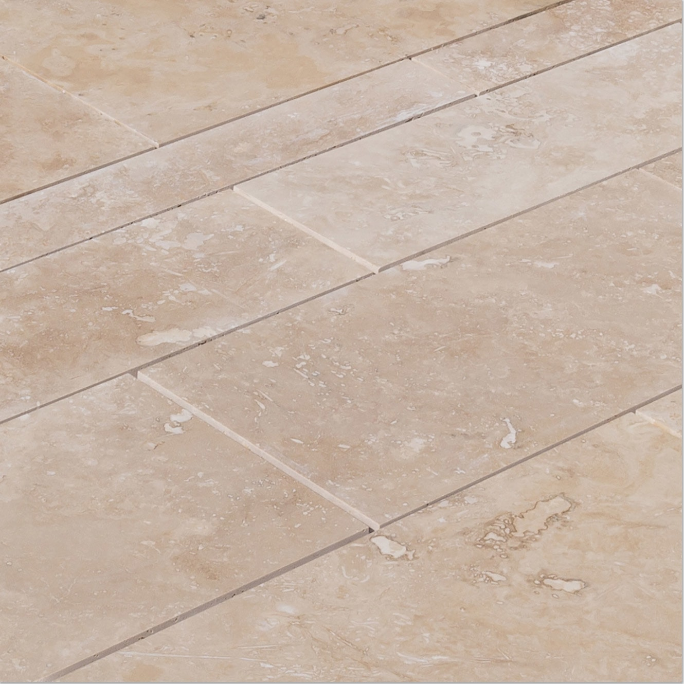 Light Beige Standard / Pattern Set / Honed and Filled / Straight Edge Travertine Tile - Honed and Filled 0
