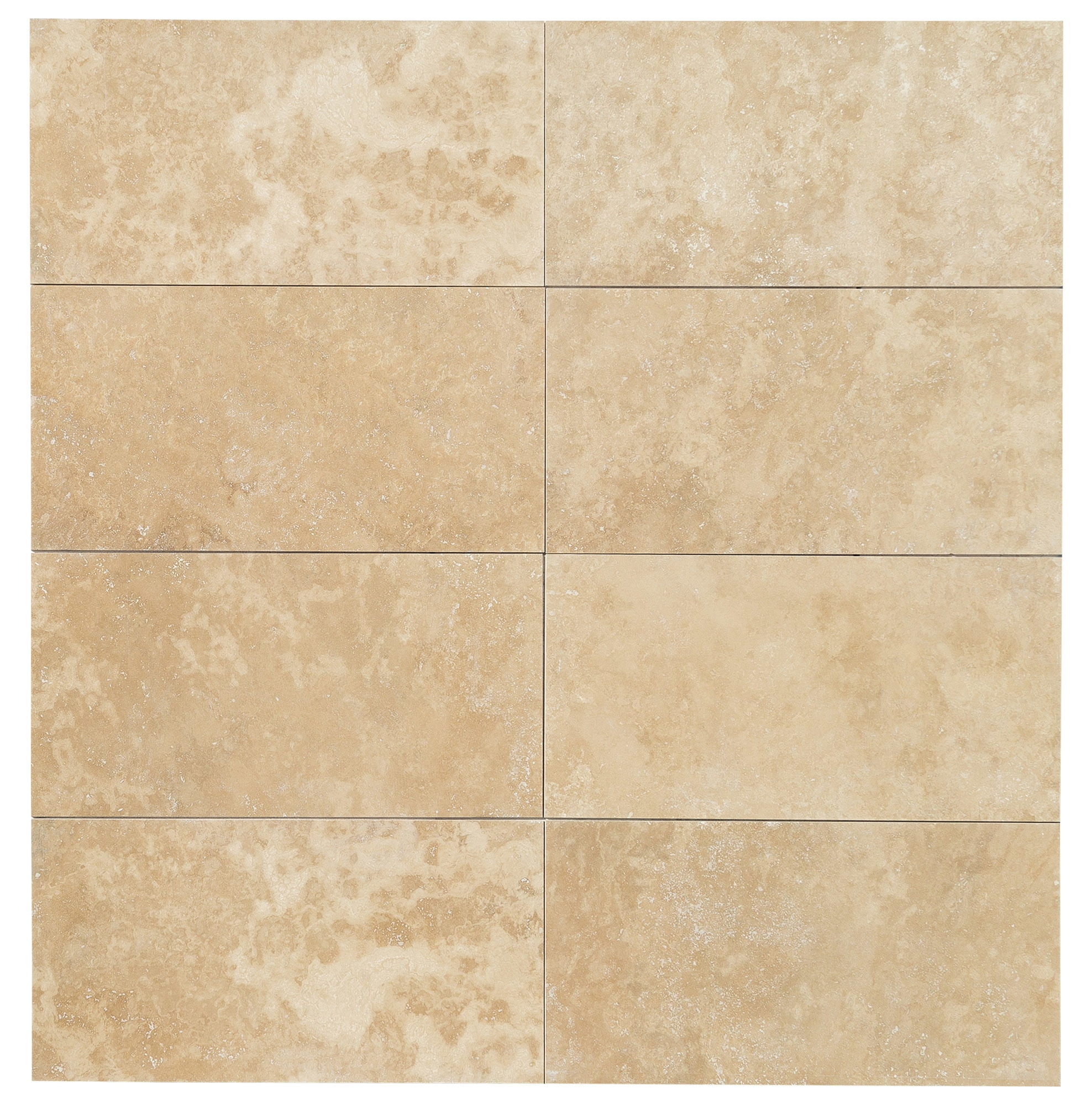 """Light Beige Premium / 24""""x48""""x1/2"""" / Honed and Filled / Straight Edge Travertine Tile - Honed and Filled 0"""