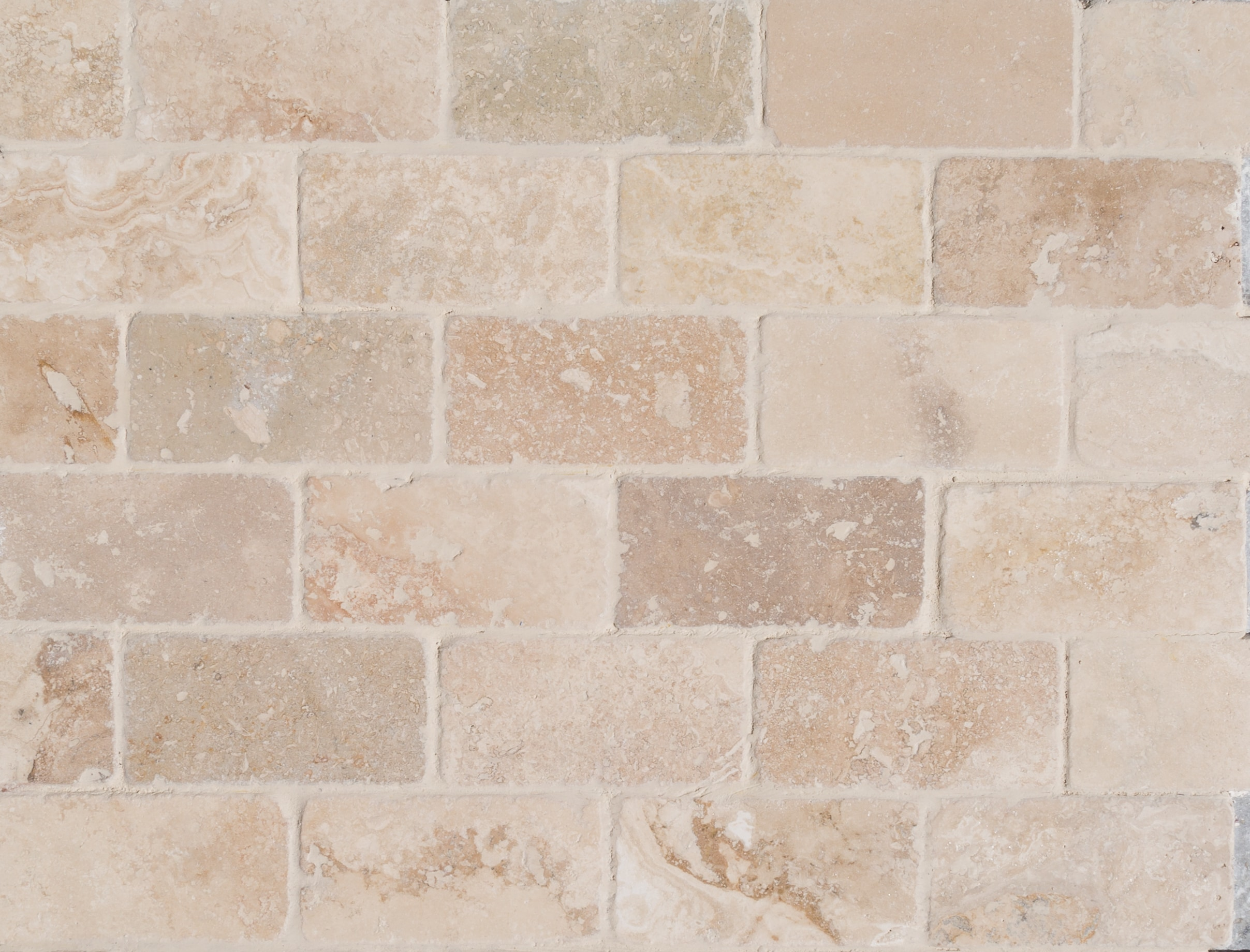 FREE Samples: Izmir Travertine Tile - Tumbled Riverbed Walnut Beige ...