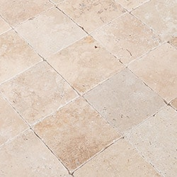 Travertine Tile - Tumbled - Riverbed Walnut Beige / 3