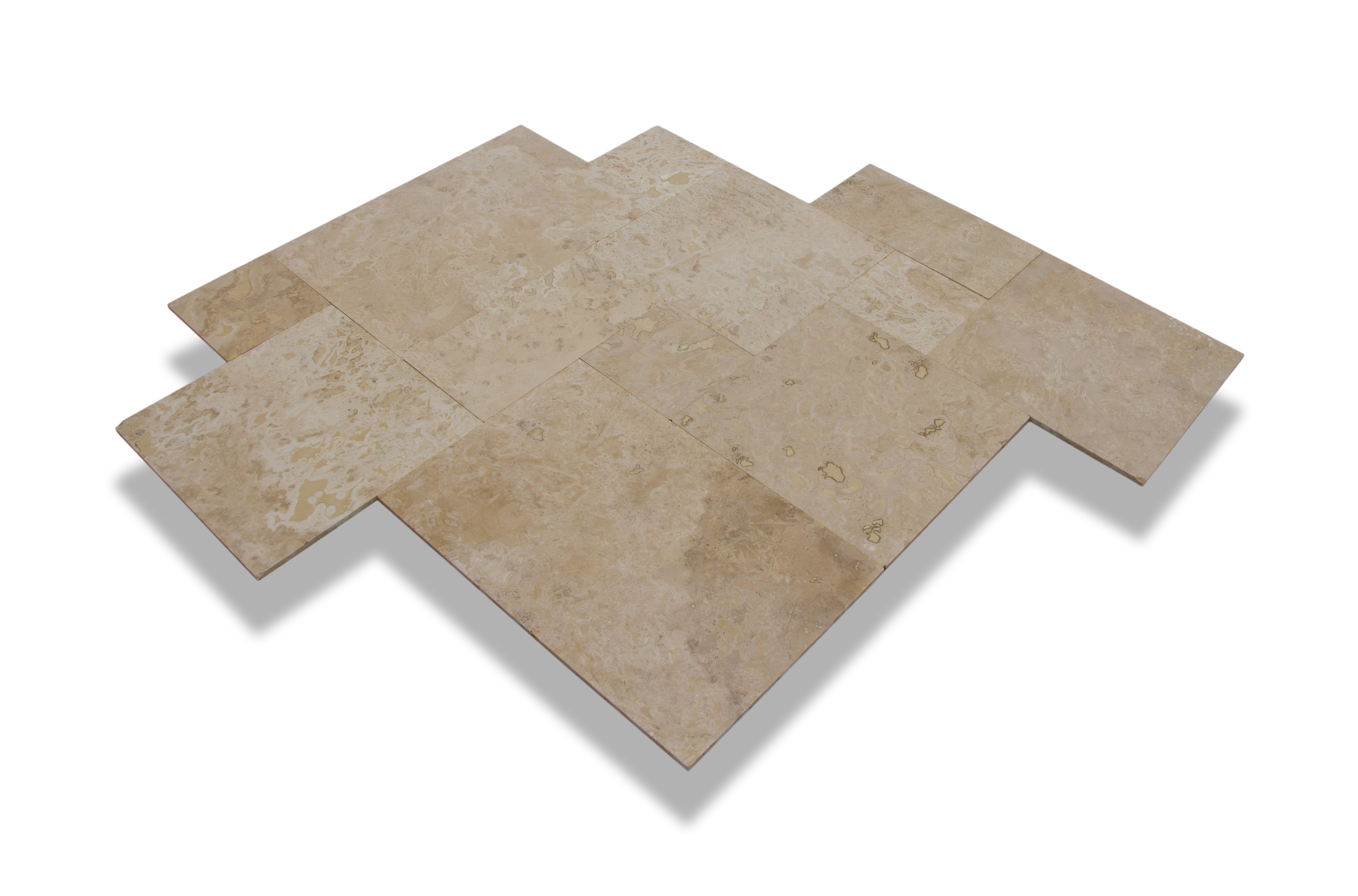 Mixed Beige Commercial / Brushed Turkish Travertine - Pattern Sets 0