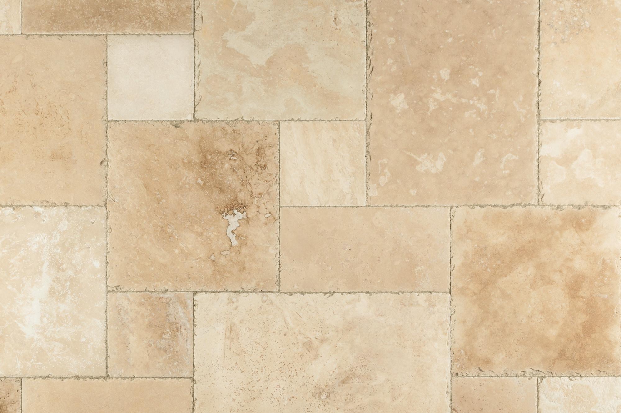 Free Samples Kesir Travertine Tile Antique Pattern Sets Denizli