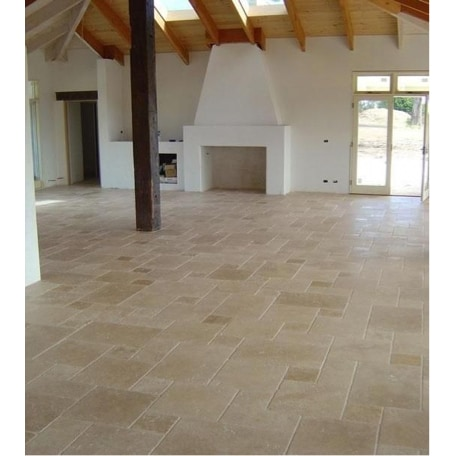 Kesir Travertine Tile Antique Pattern Sets Denizli Beige