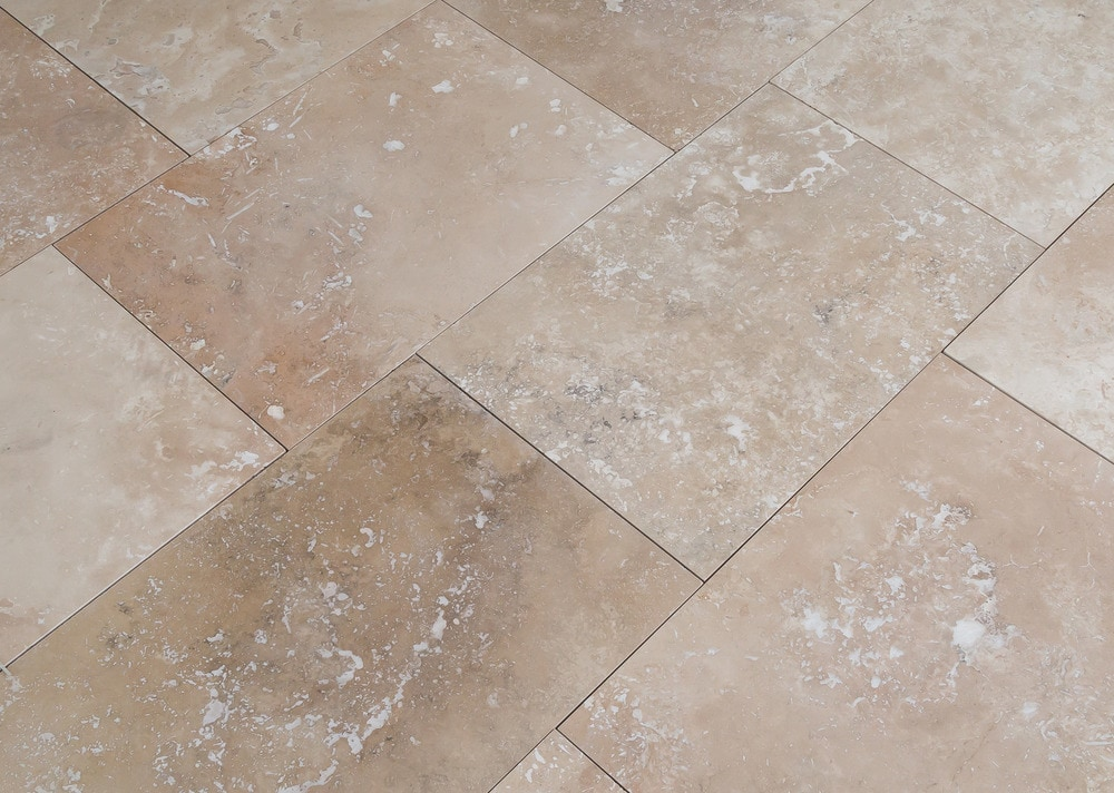 Kesir Travertine Tiles Honed And Filled Classic Beige Commercial
