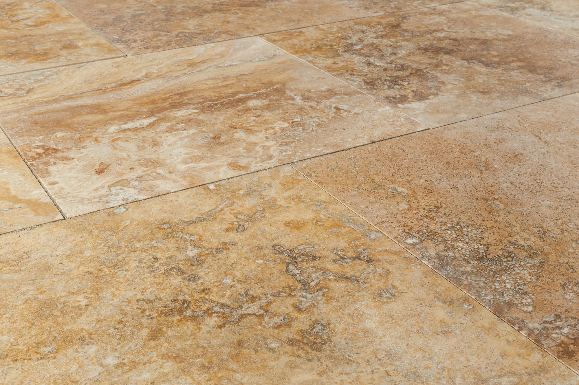 Free Samples Kesir Travertine Tiles Honed And Filled Oasis Gold