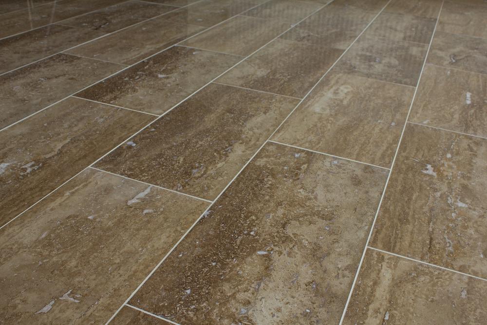 Kesir Travertine Tile Polished Noce Standard Vein Cut 12x24x12