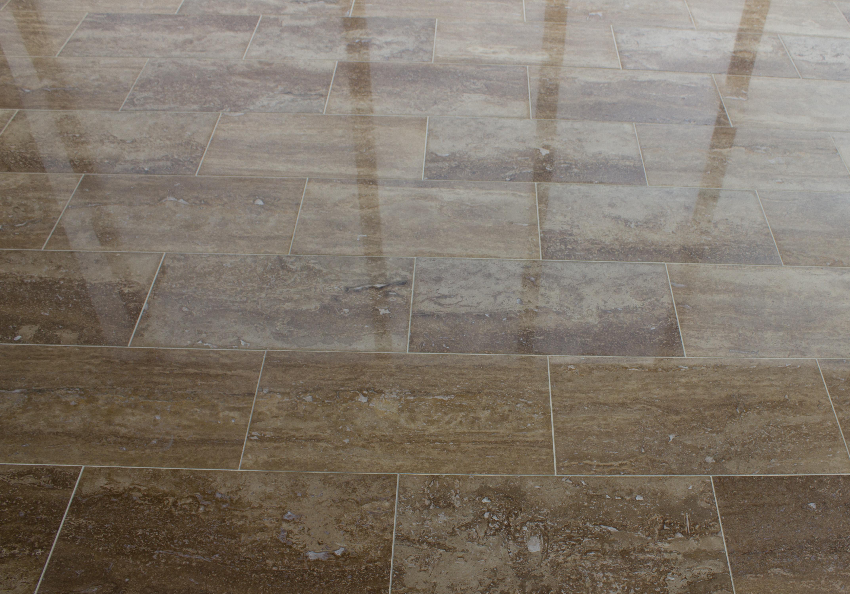 Kesir travertine tile polished noce standard vein cut 12x24x12 dailygadgetfo Gallery