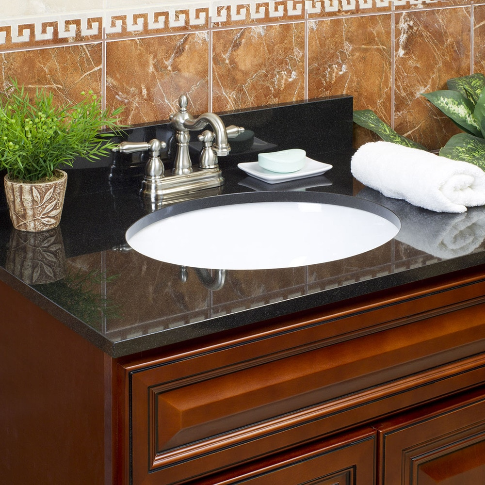 Grafton Granite Vanity Tops Single Bowl / Black Galaxy
