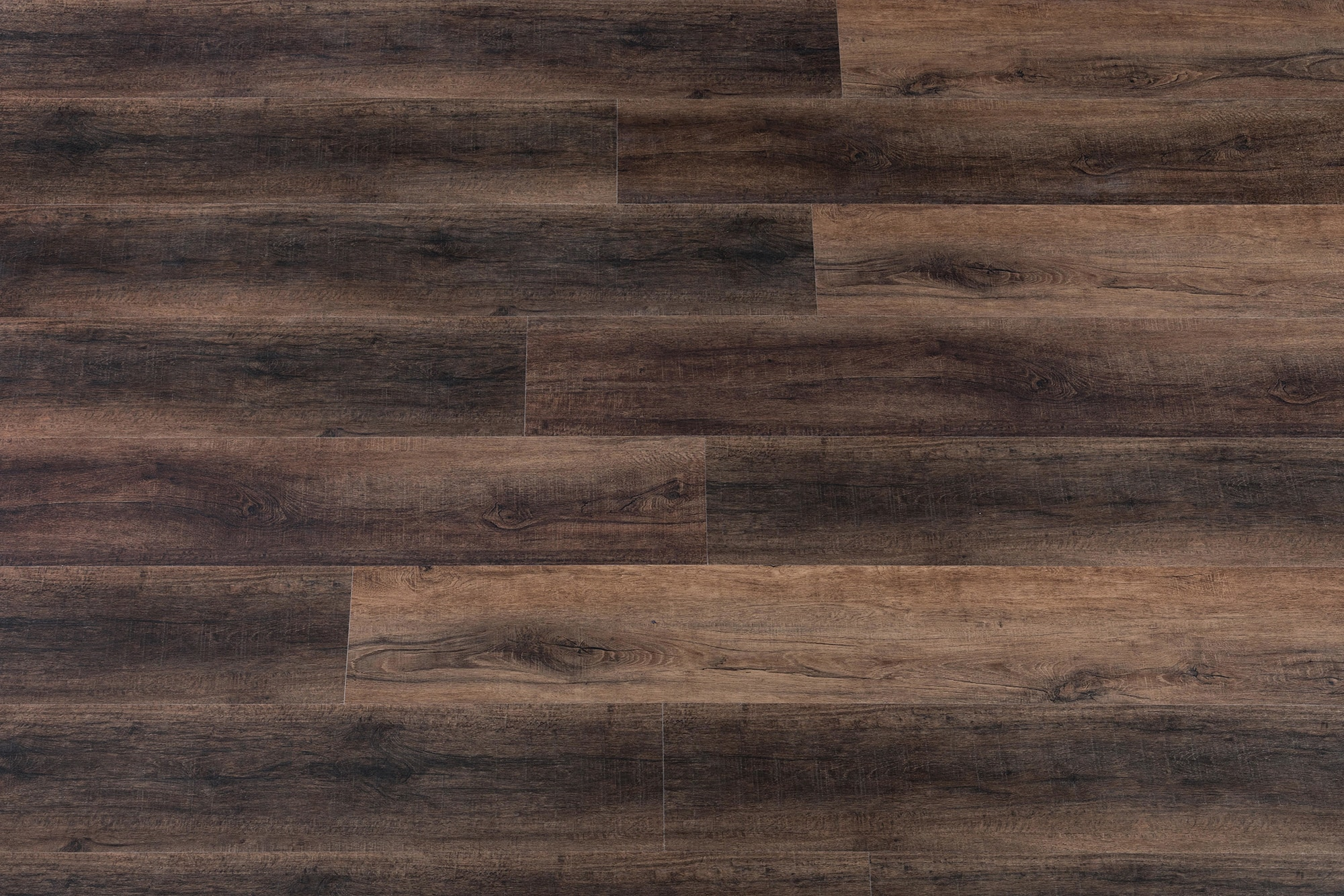 Brown Sawn French Oak / 6.5mm / SPC / Click Lock Vinyl Planks - 6.5mm SPC Click Lock - XL Jumbo Collection 0