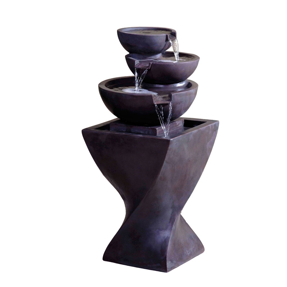 Kontiki Water Features - Faux Stone Fountains Modern Tier Bowls ...