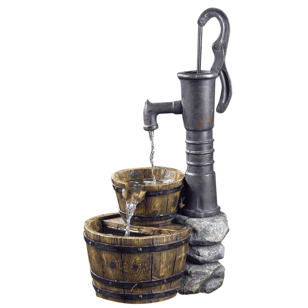 kontiki-old-fashion-water-pump-fountain-multi