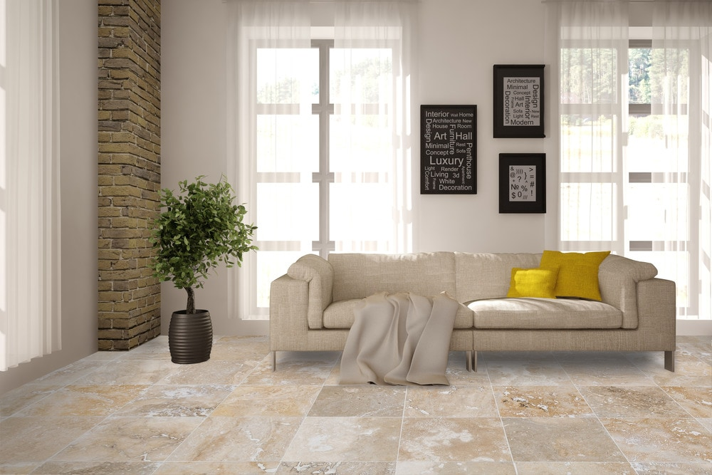 free samples kesir travertine tiles honed and filled mina rustic 18x18x12 honed and filled - Travertine Living Room Decor