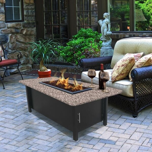 Gold Outdoor Coffee Table: California Outdoor Concepts Carmel Coffee Table Fire Pit