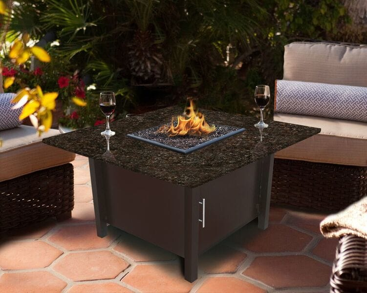 california outdoor concepts carmel square chat height fire pit brown rh builddirect com rove concepts outdoor furniture urban concepts outdoor furniture