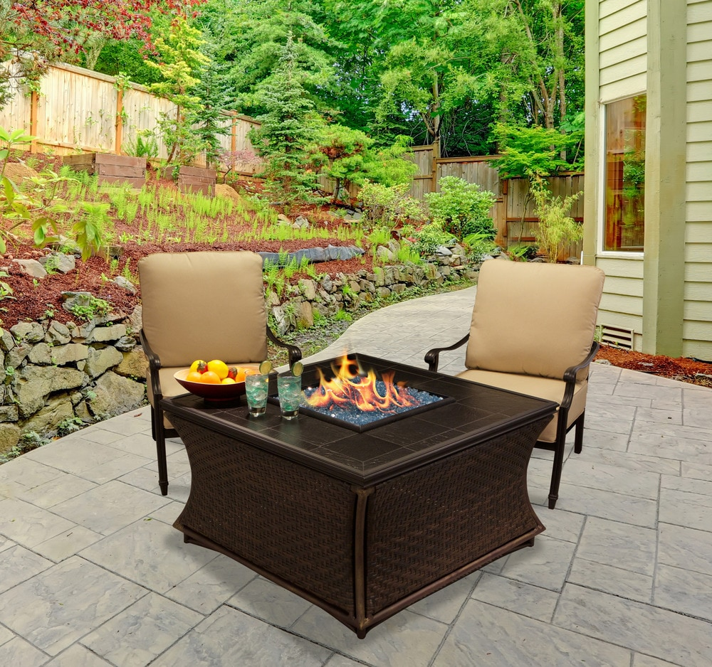 California outdoor concepts mendocino chat height fire pit for California outdoor concepts