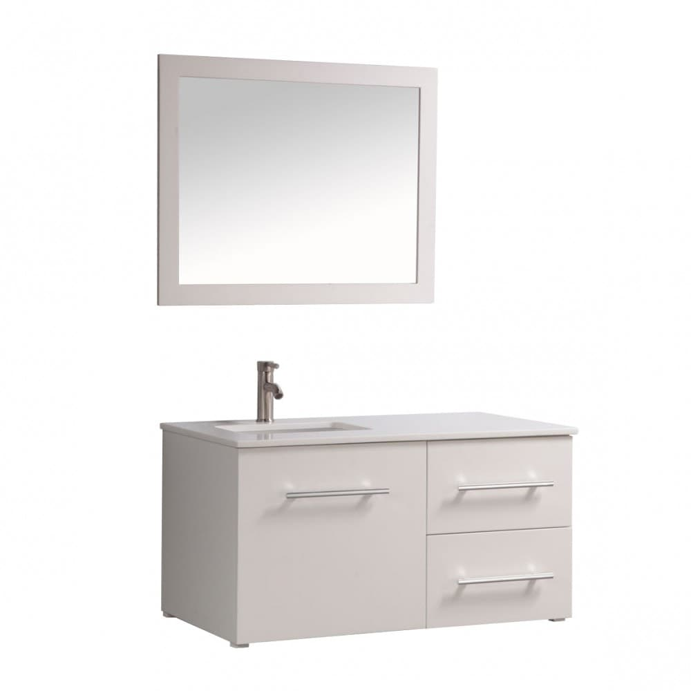 Mtd vanities nepal modern 41 wall mounted for Kitchen sink in nepal