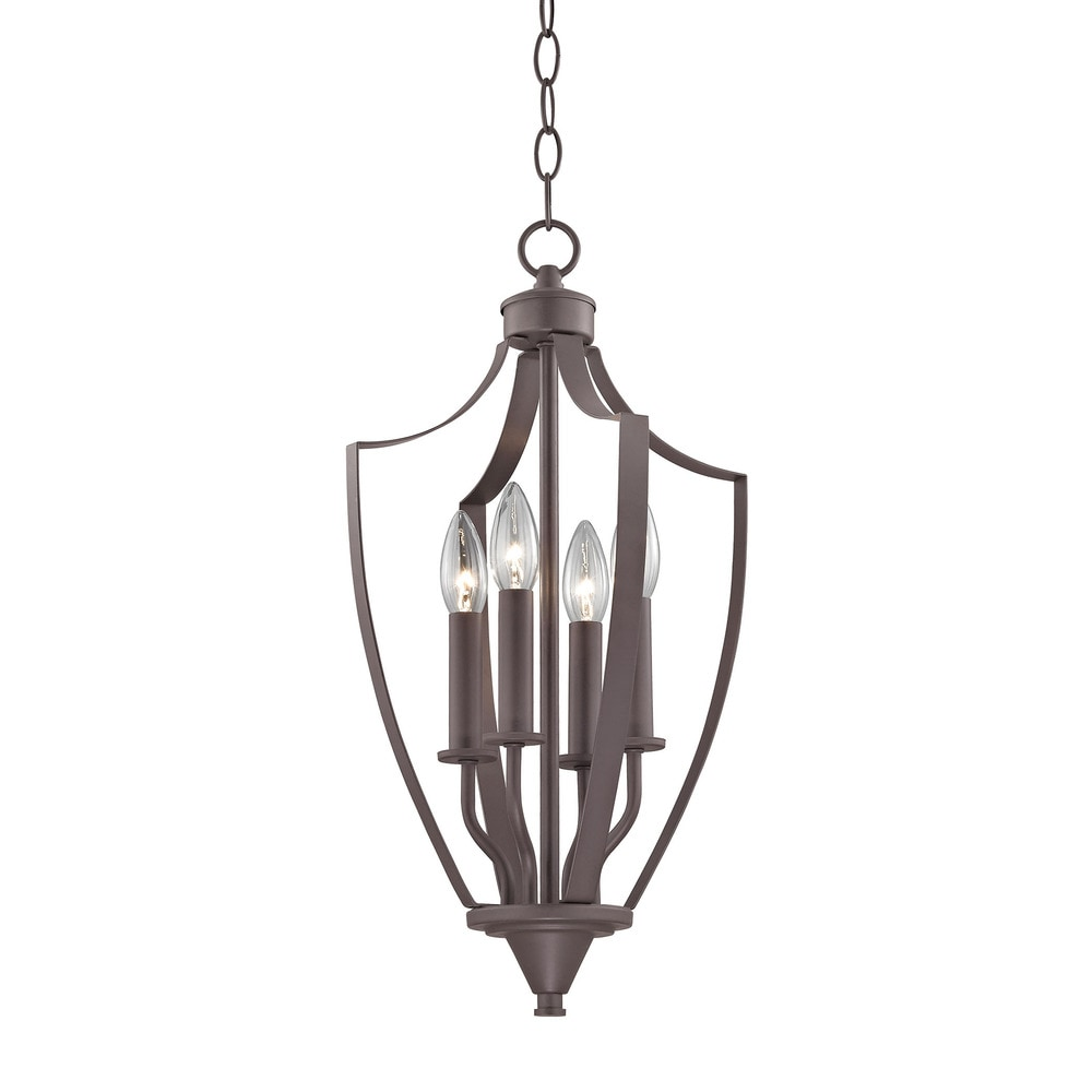 Foyer Chandelier Bronze : Elk foyer ceiling lighting oil rubbed bronze  fy
